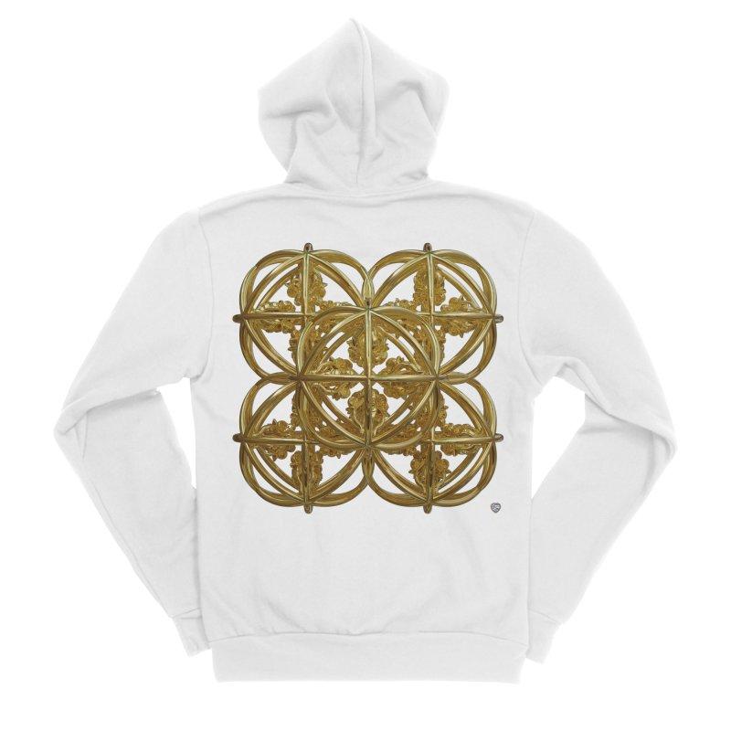 56 Dorje Object Gold Men's Sponge Fleece Zip-Up Hoody by diamondheart's Artist Shop