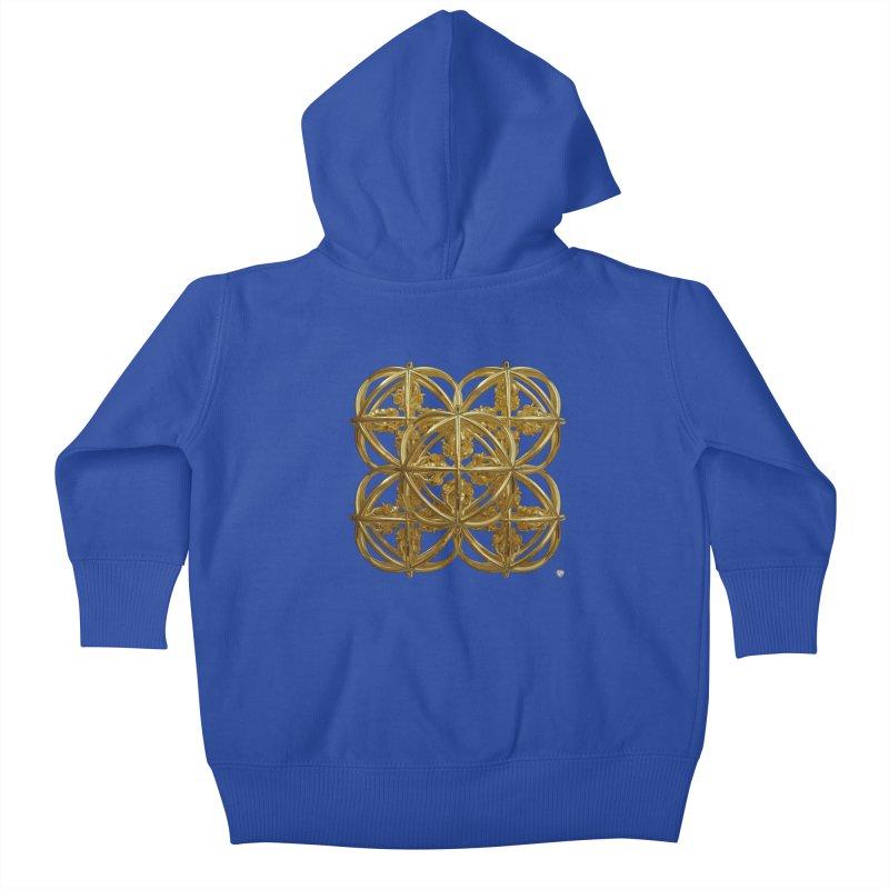 56 Dorje Object Gold Kids Baby Zip-Up Hoody by diamondheart's Artist Shop