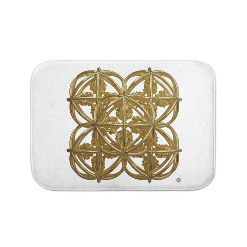 56 Dorje Object Gold Home Bath Mat by diamondheart's Artist Shop