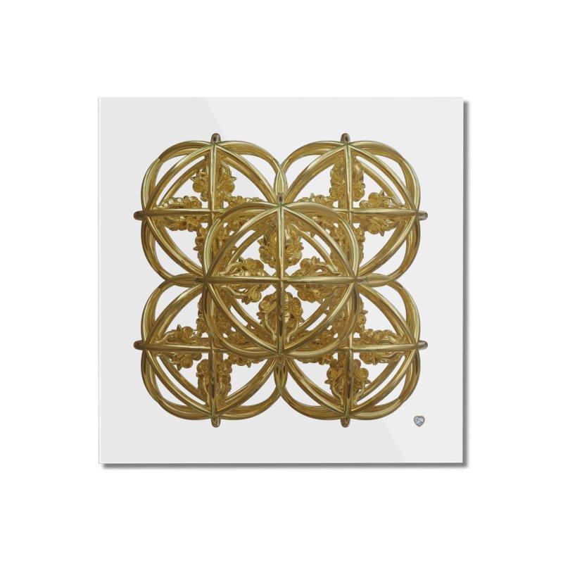 56 Dorje Object Gold Home Mounted Acrylic Print by diamondheart's Artist Shop