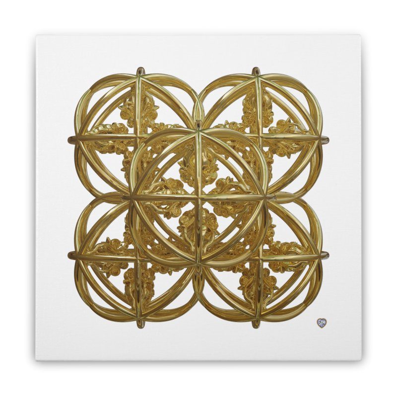 56 Dorje Object Gold Home Stretched Canvas by diamondheart's Artist Shop
