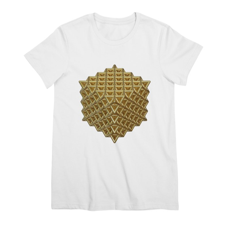 512 Tetrahedron Gold Women's Premium T-Shirt by diamondheart's Artist Shop
