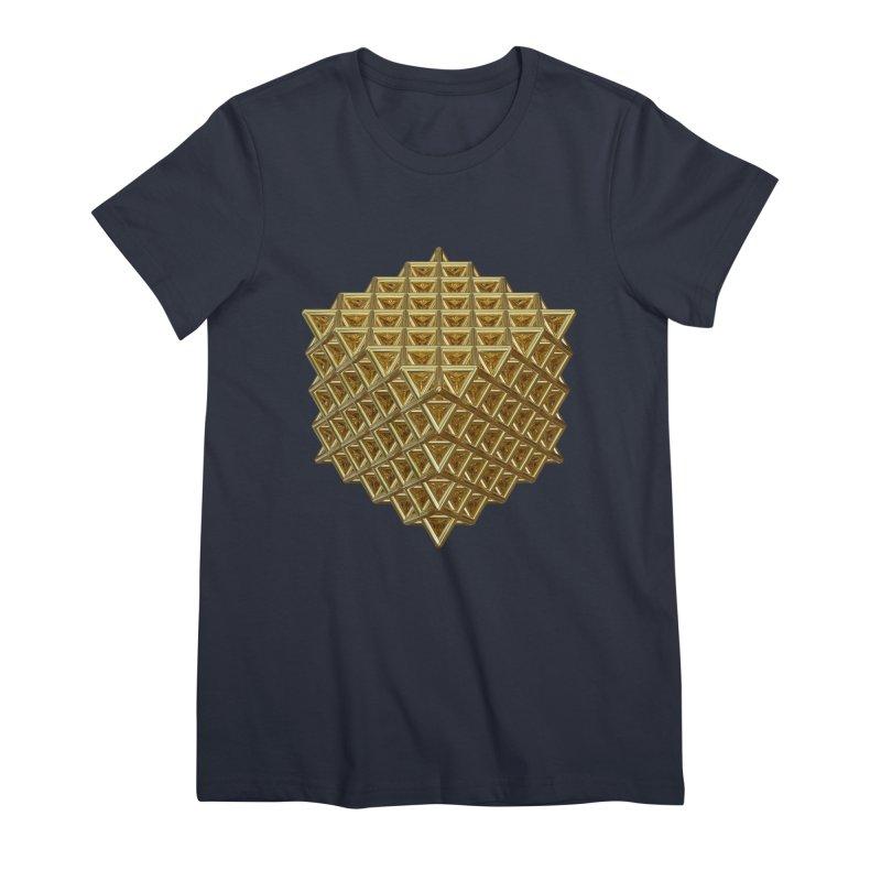 512 Tetrahedron Gold Women's Premium T-Shirt by diamondheart's Artist Shop