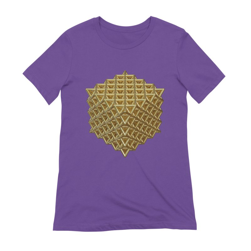 512 Tetrahedron Gold Women's Extra Soft T-Shirt by diamondheart's Artist Shop