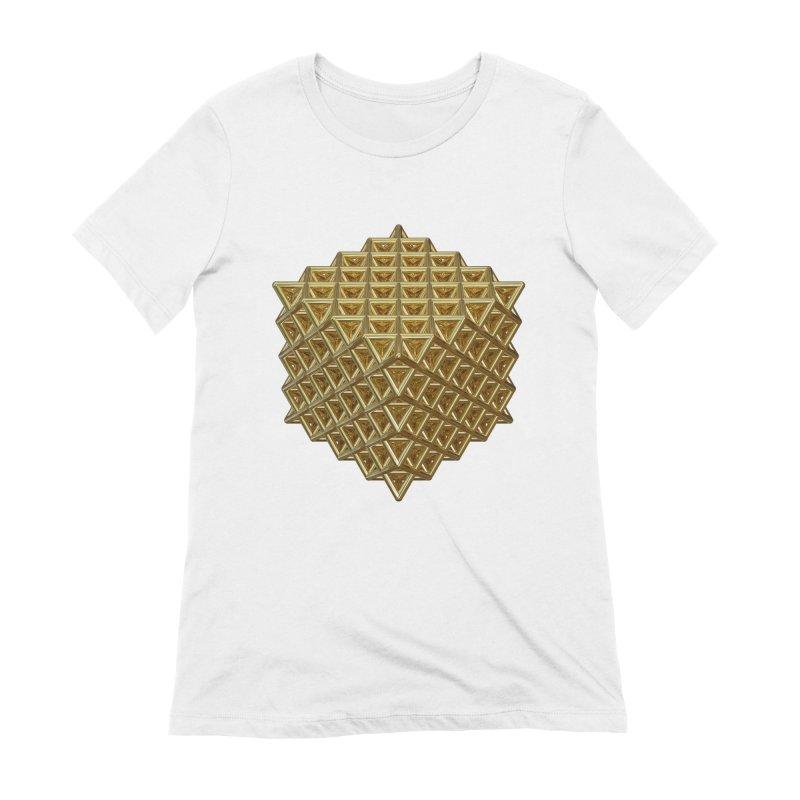 512 Tetrahedron Gold Women's Extra Soft T-Shirt by diamondheart's Artist Shop