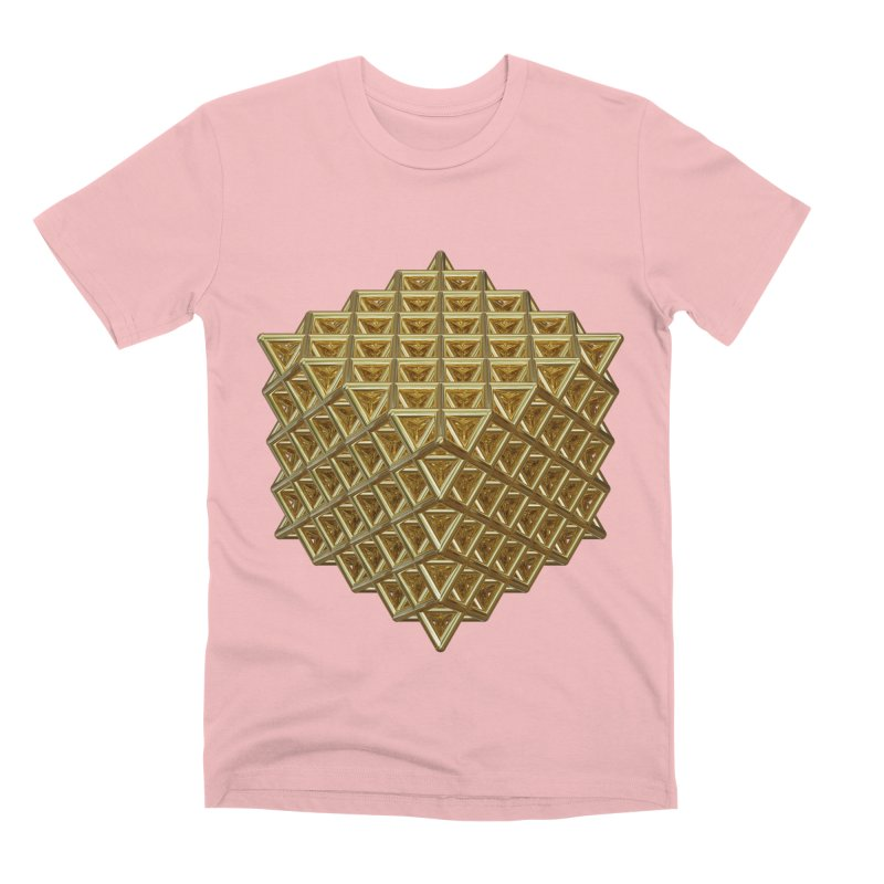 512 Tetrahedron Gold Men's Premium T-Shirt by diamondheart's Artist Shop