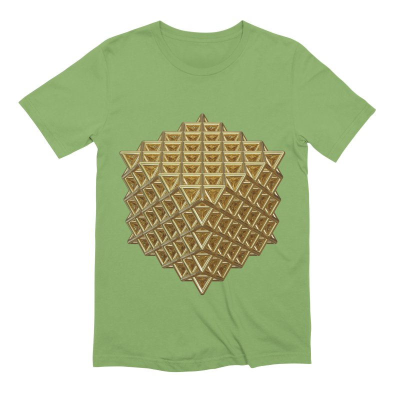 512 Tetrahedron Gold Men's Extra Soft T-Shirt by diamondheart's Artist Shop