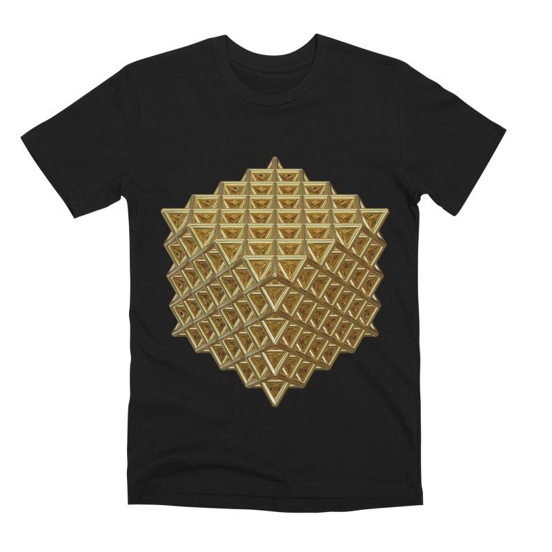 512 Tetrahedron Gold Men's Premium T-Shirt by diamondheart's Artist Shop