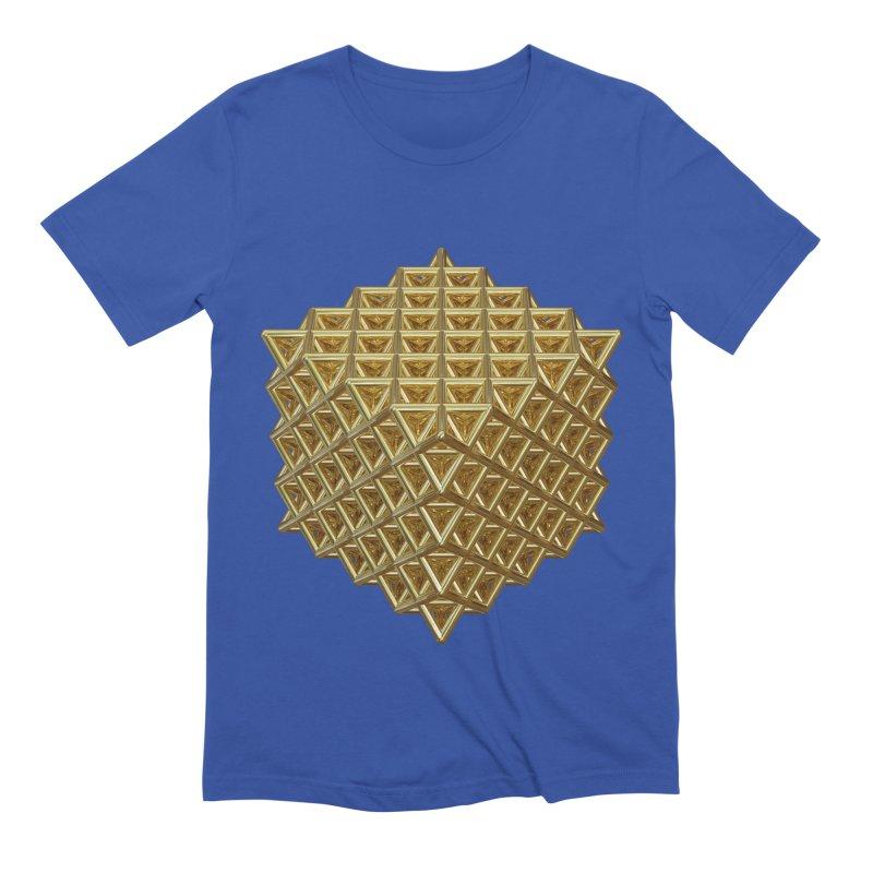 512 Tetrahedron Gold Men's Extra Soft T-Shirt by diamondheart's Artist Shop