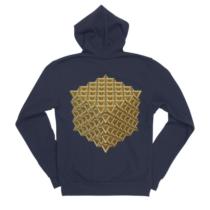 512 Tetrahedron Gold Women's Sponge Fleece Zip-Up Hoody by diamondheart's Artist Shop