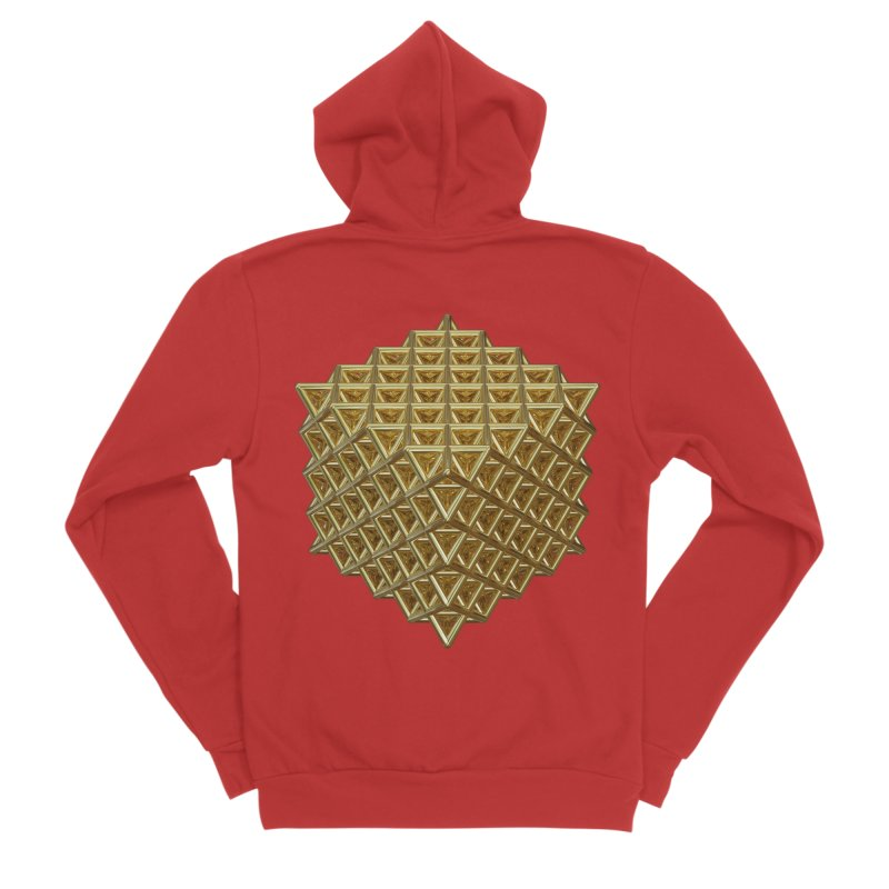 512 Tetrahedron Gold Women's Sponge Fleece Zip-Up Hoody by diamondheart's Artist Shop