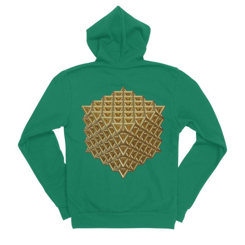 512 Tetrahedron Gold Men's Sponge Fleece Zip-Up Hoody by diamondheart's Artist Shop
