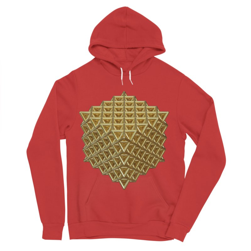 512 Tetrahedron Gold Men's Sponge Fleece Pullover Hoody by diamondheart's Artist Shop