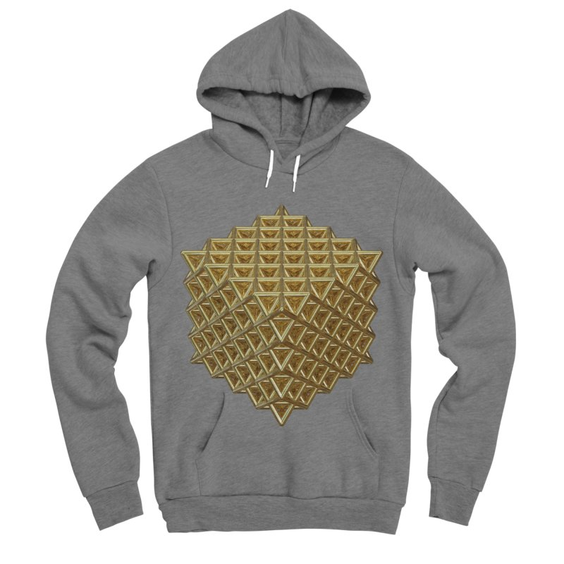 512 Tetrahedron Gold Men's Sponge Fleece Pullover Hoody by diamondheart's Artist Shop