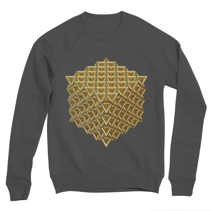 512 Tetrahedron Gold Men's Sponge Fleece Sweatshirt by diamondheart's Artist Shop