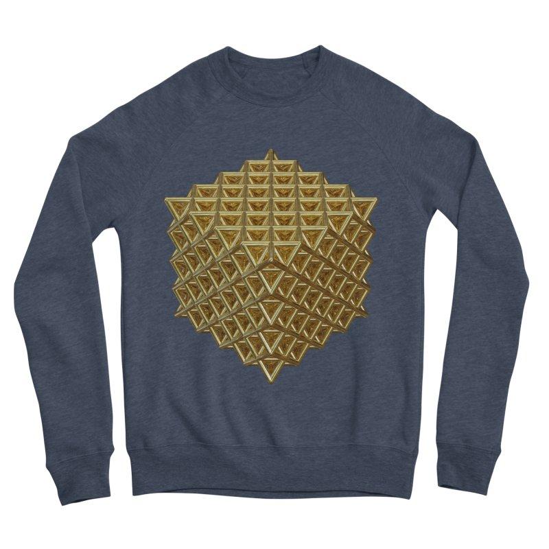512 Tetrahedron Gold Women's Sponge Fleece Sweatshirt by diamondheart's Artist Shop