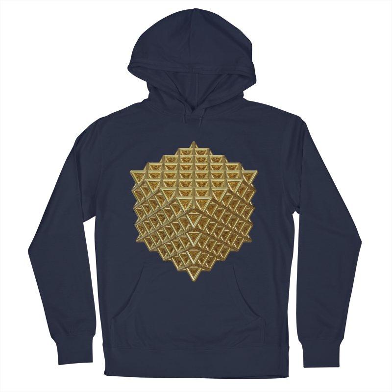 512 Tetrahedron Gold Men's Pullover Hoody by diamondheart's Artist Shop