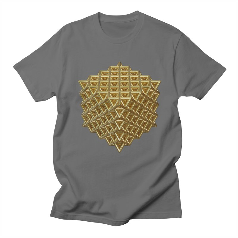 512 Tetrahedron Gold Men's T-Shirt by diamondheart's Artist Shop