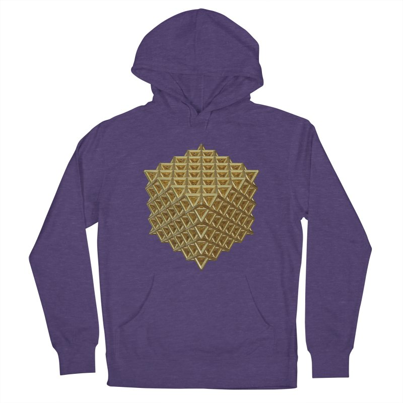 512 Tetrahedron Gold Women's French Terry Pullover Hoody by diamondheart's Artist Shop