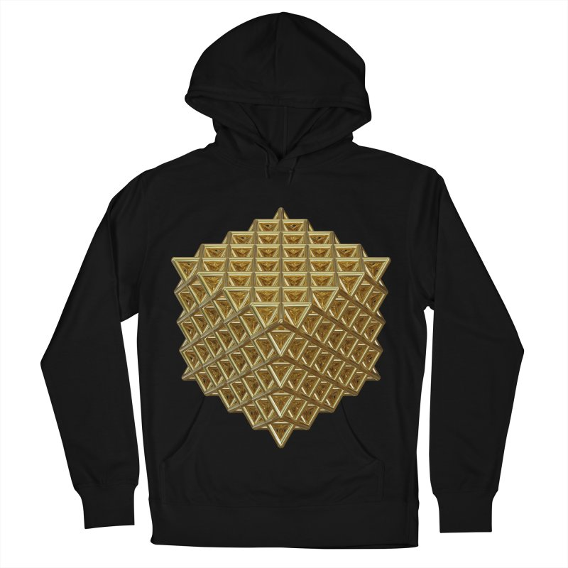 512 Tetrahedron Gold Men's French Terry Pullover Hoody by diamondheart's Artist Shop