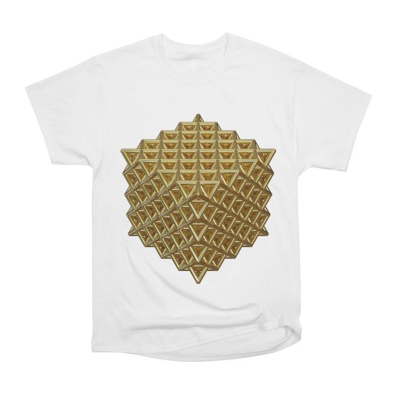 512 Tetrahedron Gold Men's Heavyweight T-Shirt by diamondheart's Artist Shop