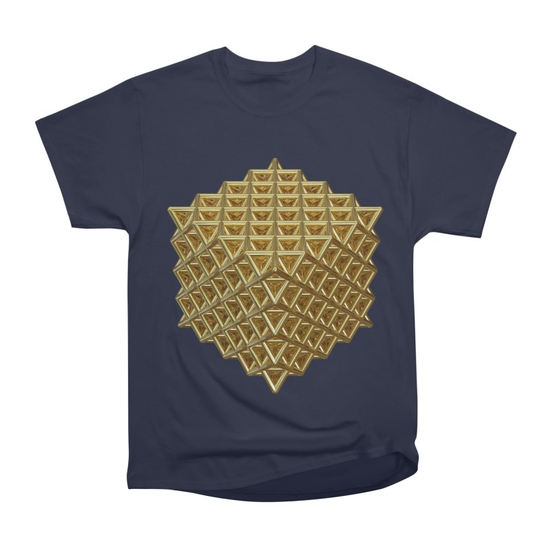 512 Tetrahedron Gold Men's Heavyweight T-Shirt by diamondheart's Artist Shop