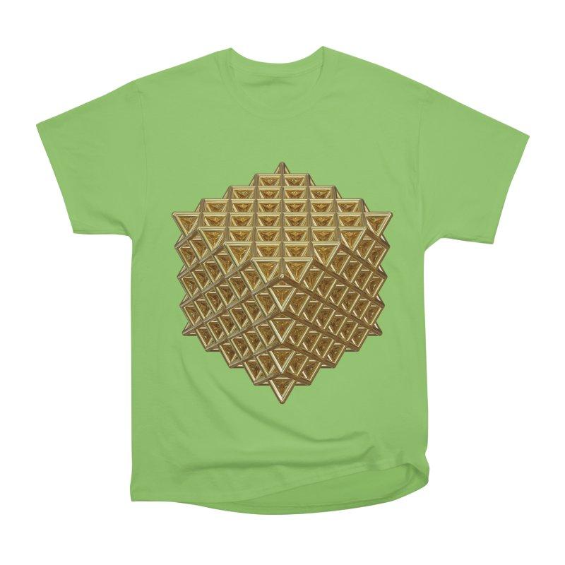 512 Tetrahedron Gold Women's Heavyweight Unisex T-Shirt by diamondheart's Artist Shop