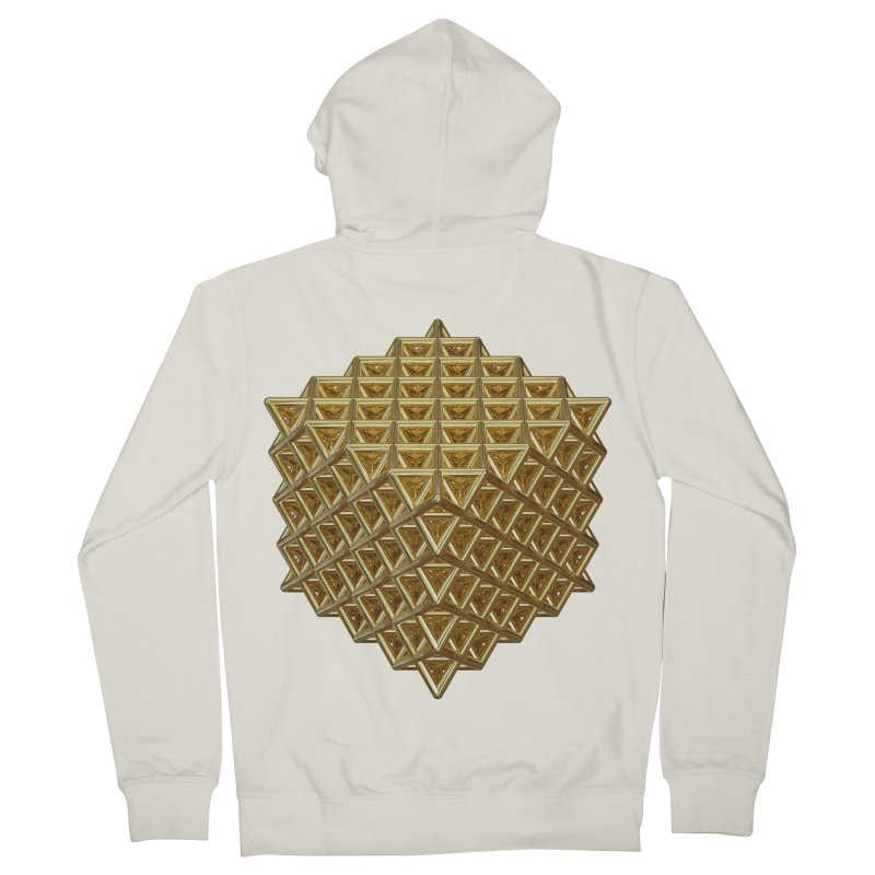 512 Tetrahedron Gold Women's French Terry Zip-Up Hoody by diamondheart's Artist Shop