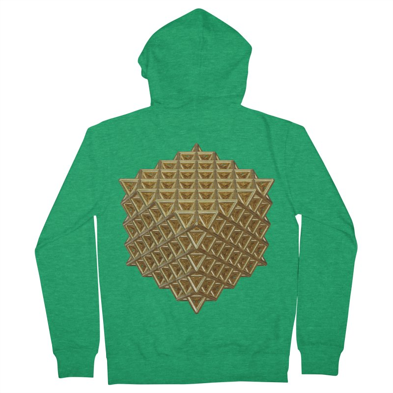 512 Tetrahedron Gold Men's French Terry Zip-Up Hoody by diamondheart's Artist Shop
