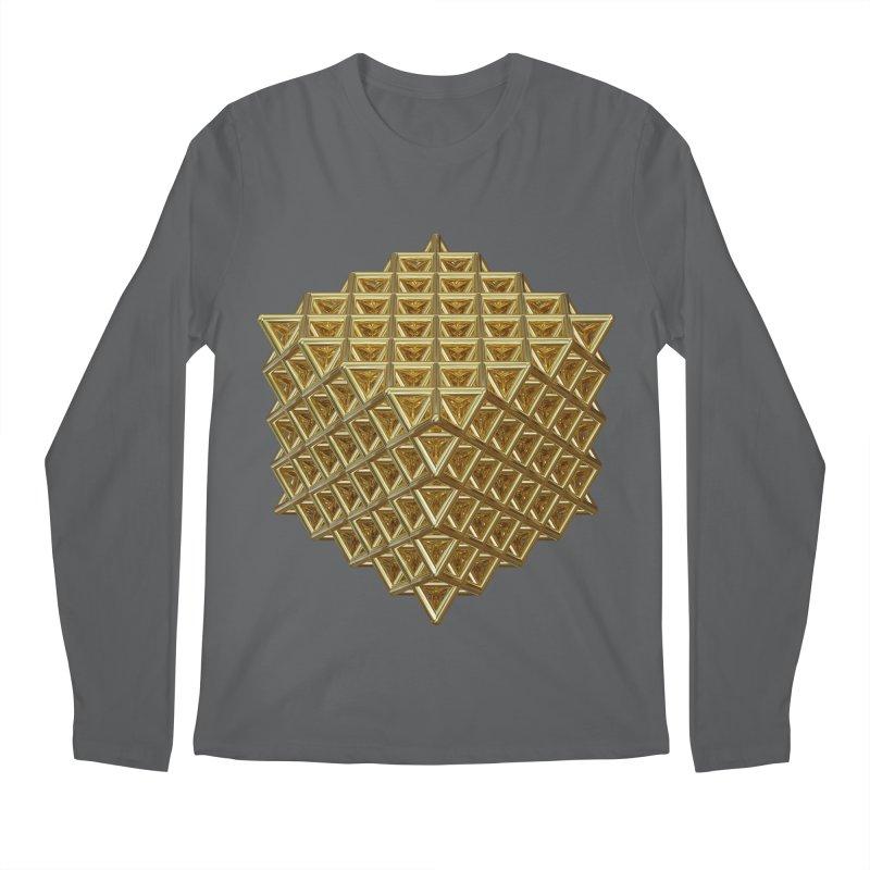 512 Tetrahedron Gold Men's Regular Longsleeve T-Shirt by diamondheart's Artist Shop