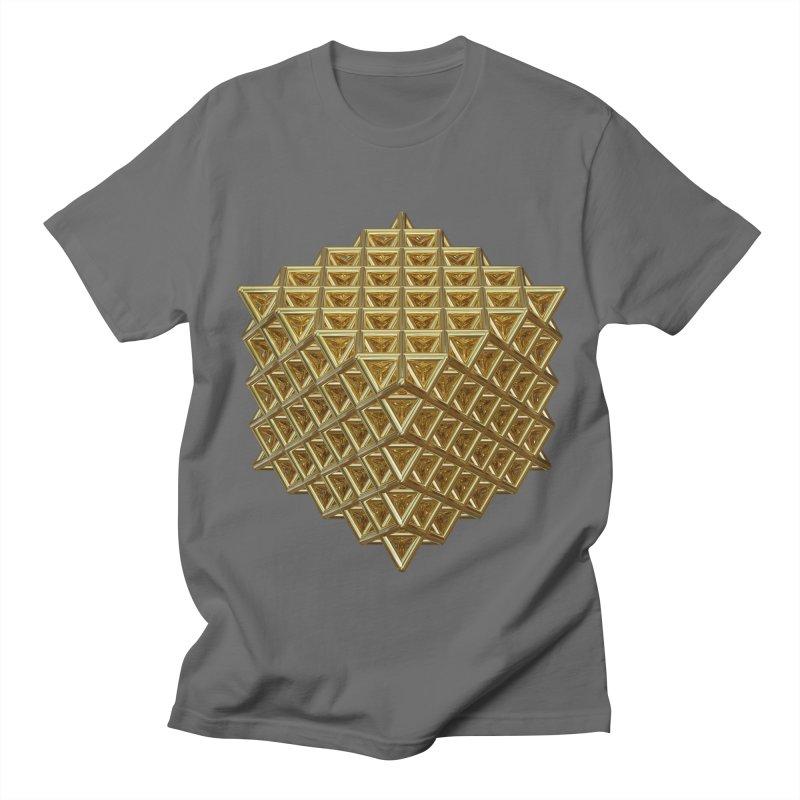 512 Tetrahedron Gold Men's T-Shirt by diamondheart's Artist Shop