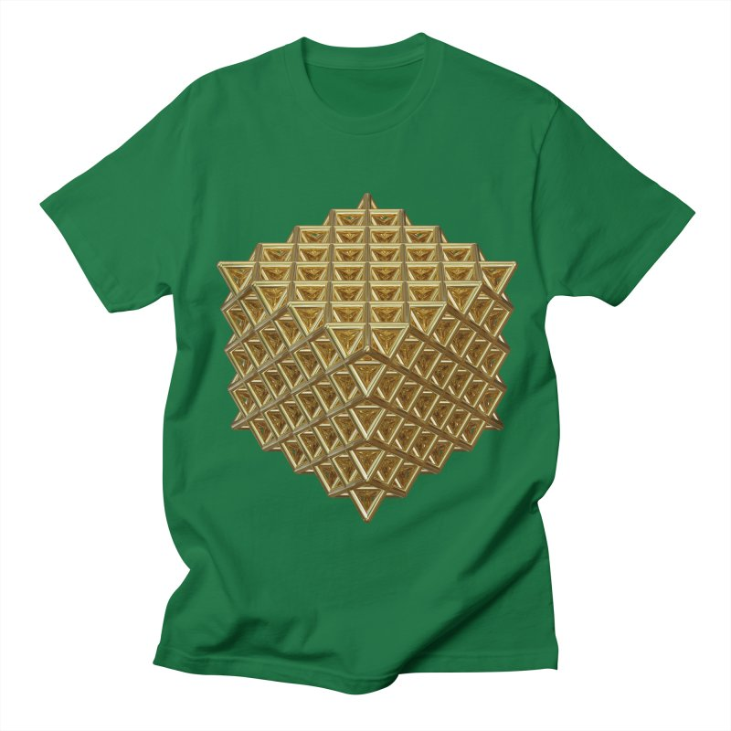 512 Tetrahedron Gold Women's Regular Unisex T-Shirt by diamondheart's Artist Shop