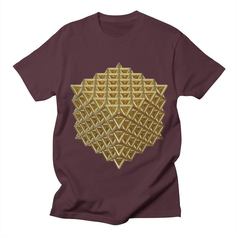 512 Tetrahedron Gold Men's Regular T-Shirt by diamondheart's Artist Shop