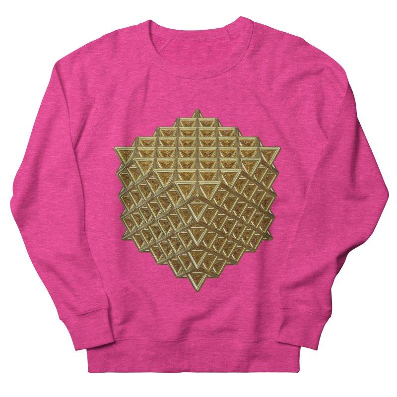 512 Tetrahedron Gold Women's French Terry Sweatshirt by diamondheart's Artist Shop