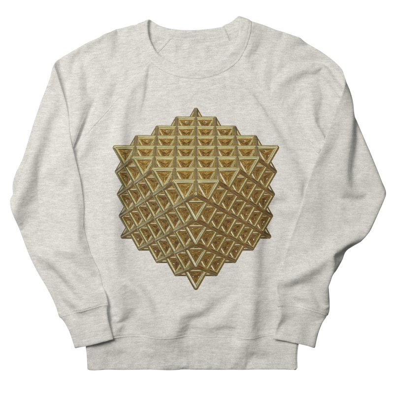 512 Tetrahedron Gold Women's French Terry Sweatshirt by diamondheart's Artist Shop