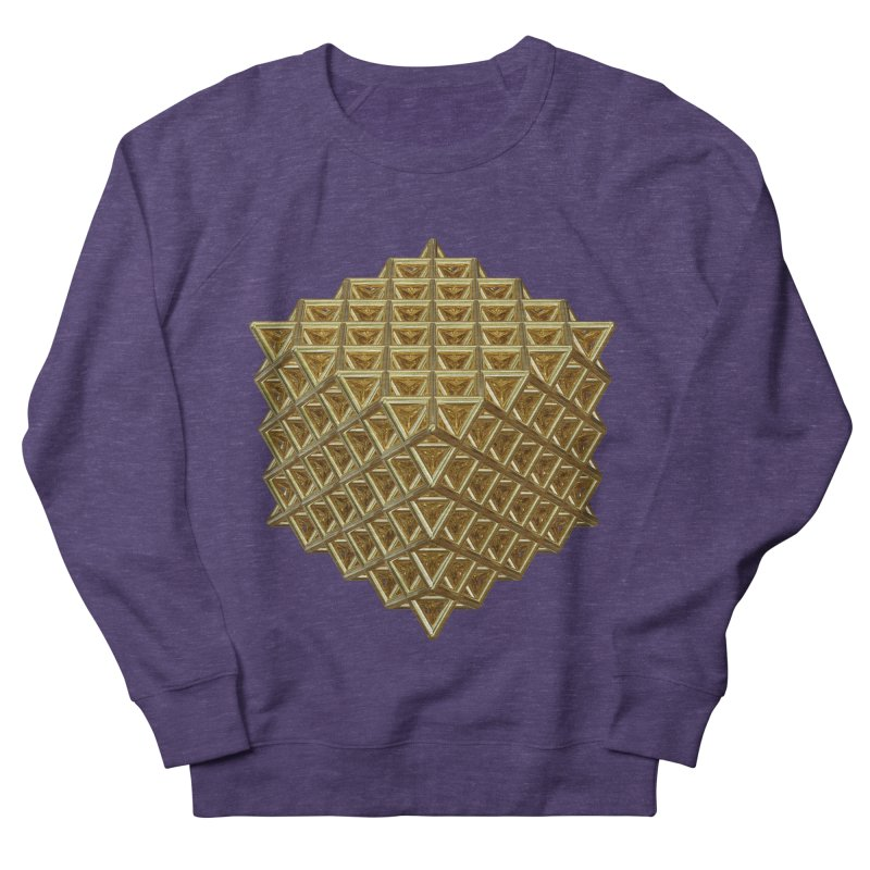 512 Tetrahedron Gold Men's French Terry Sweatshirt by diamondheart's Artist Shop