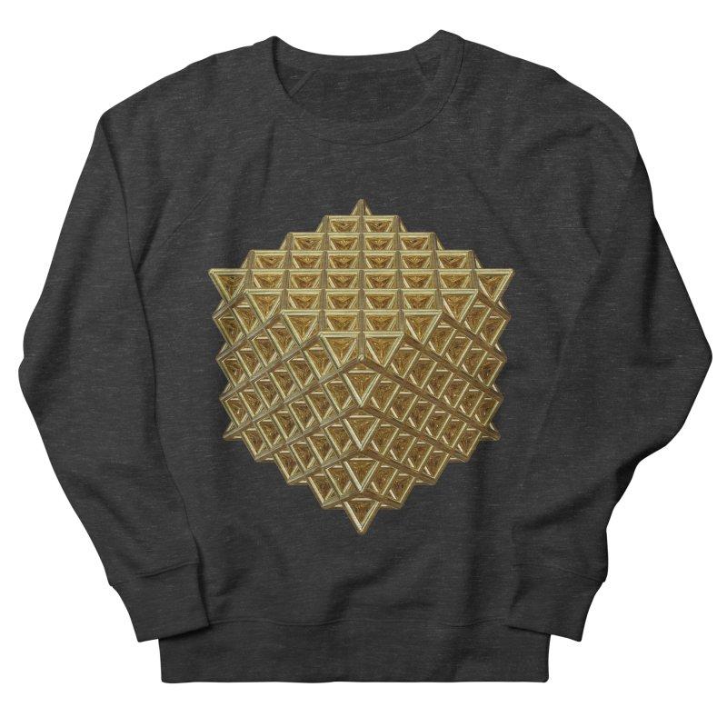 512 Tetrahedron Gold Men's French Terry Sweatshirt by diamondheart's Artist Shop