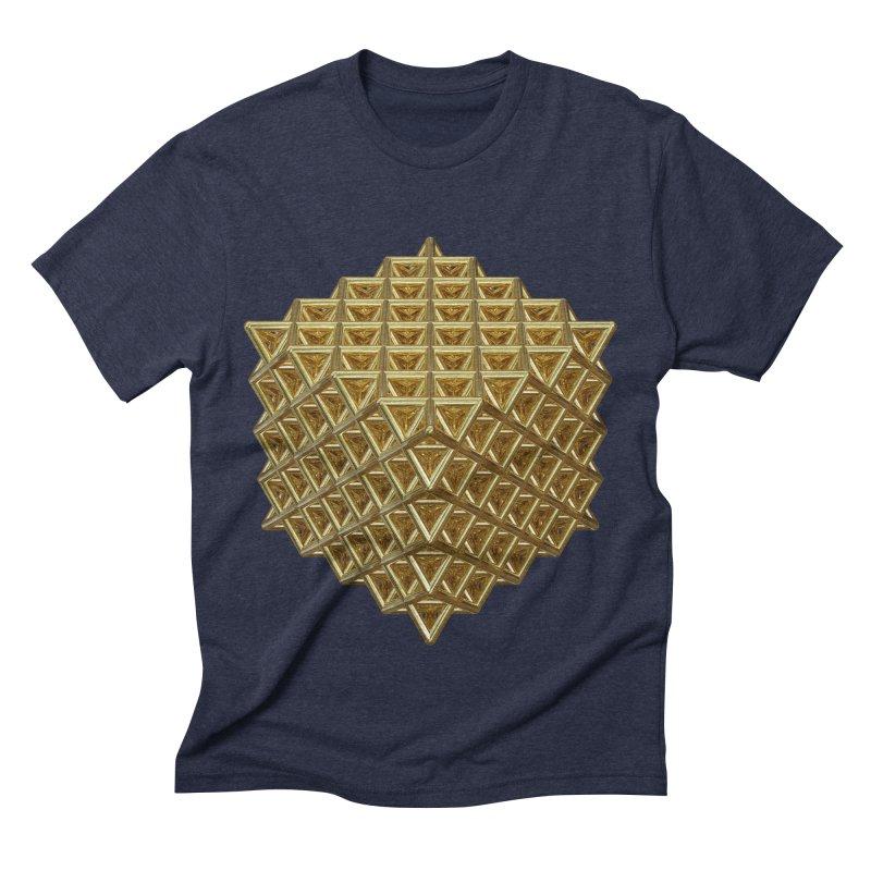 512 Tetrahedron Gold Men's Triblend T-Shirt by diamondheart's Artist Shop