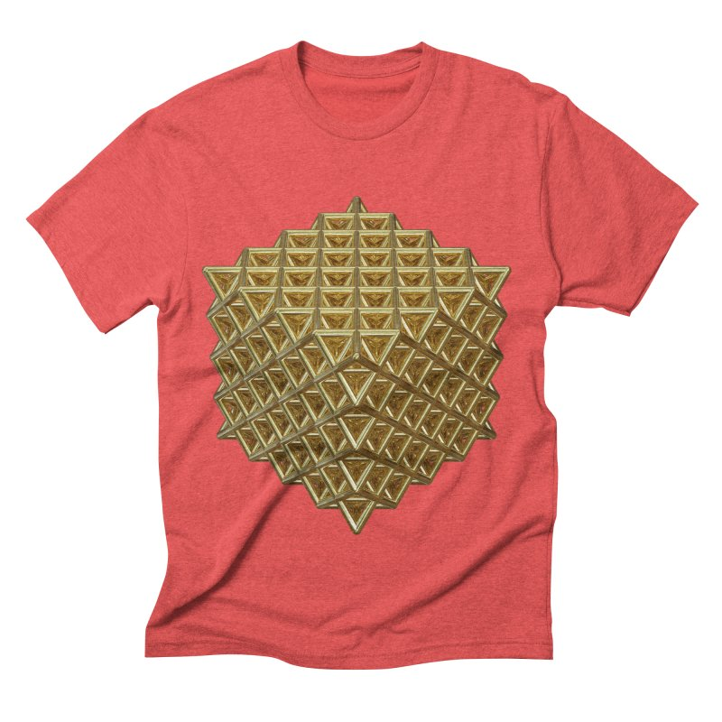 512 Tetrahedron Gold Men's Triblend T-Shirt by diamondheart's Artist Shop