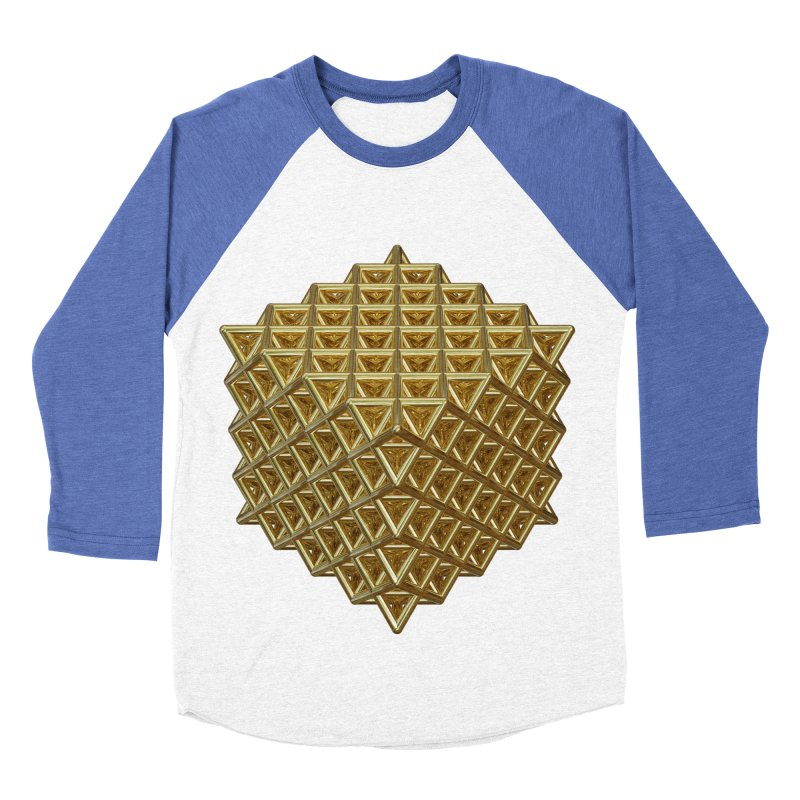 512 Tetrahedron Gold Women's Baseball Triblend Longsleeve T-Shirt by diamondheart's Artist Shop