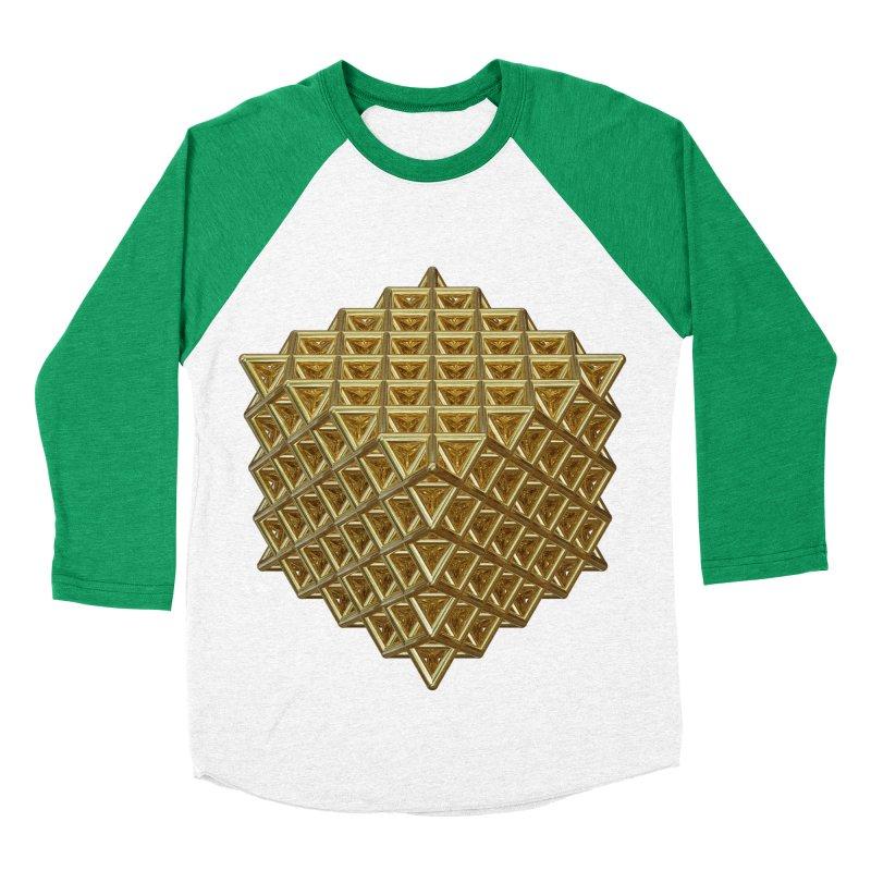 512 Tetrahedron Gold Women's Baseball Triblend Longsleeve T-Shirt by diamondheart's Artist Shop