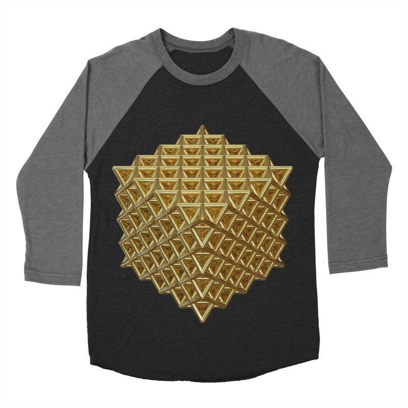 512 Tetrahedron Gold Men's Baseball Triblend Longsleeve T-Shirt by diamondheart's Artist Shop