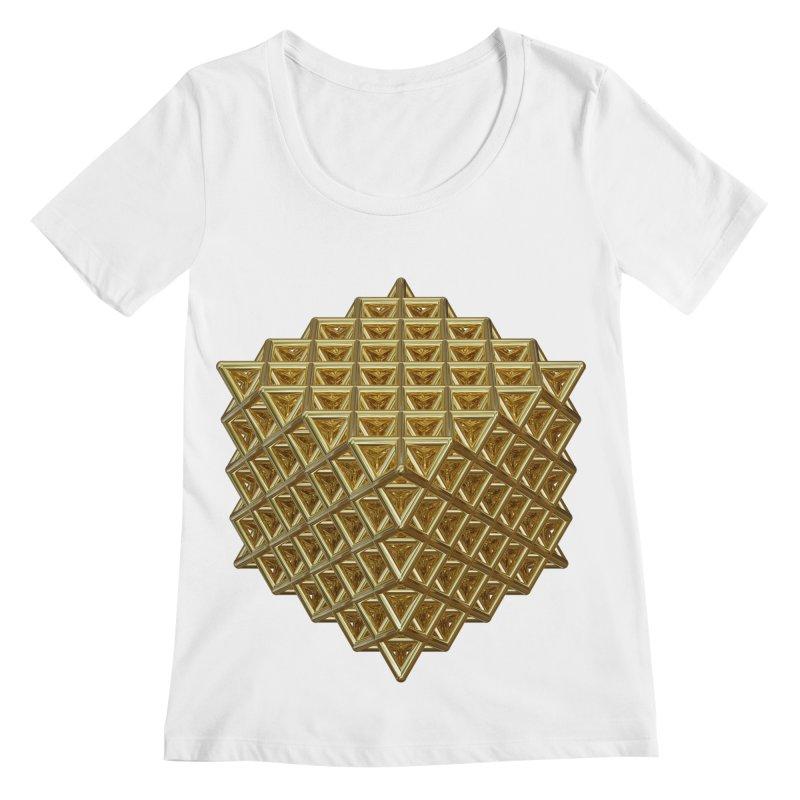 512 Tetrahedron Gold Women's Regular Scoop Neck by diamondheart's Artist Shop