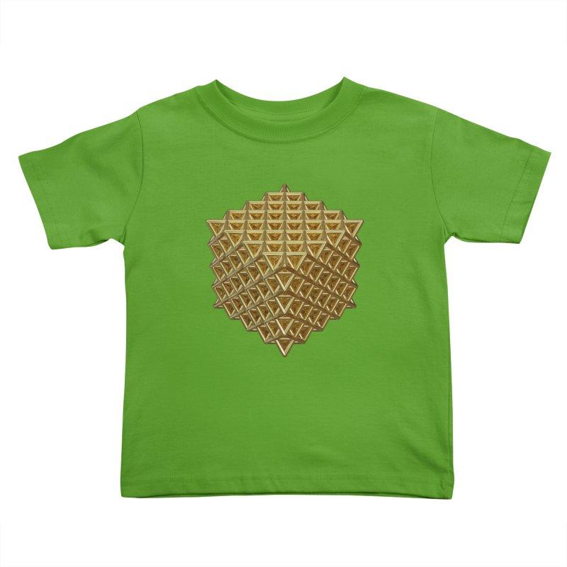 512 Tetrahedron Gold Kids Toddler T-Shirt by diamondheart's Artist Shop