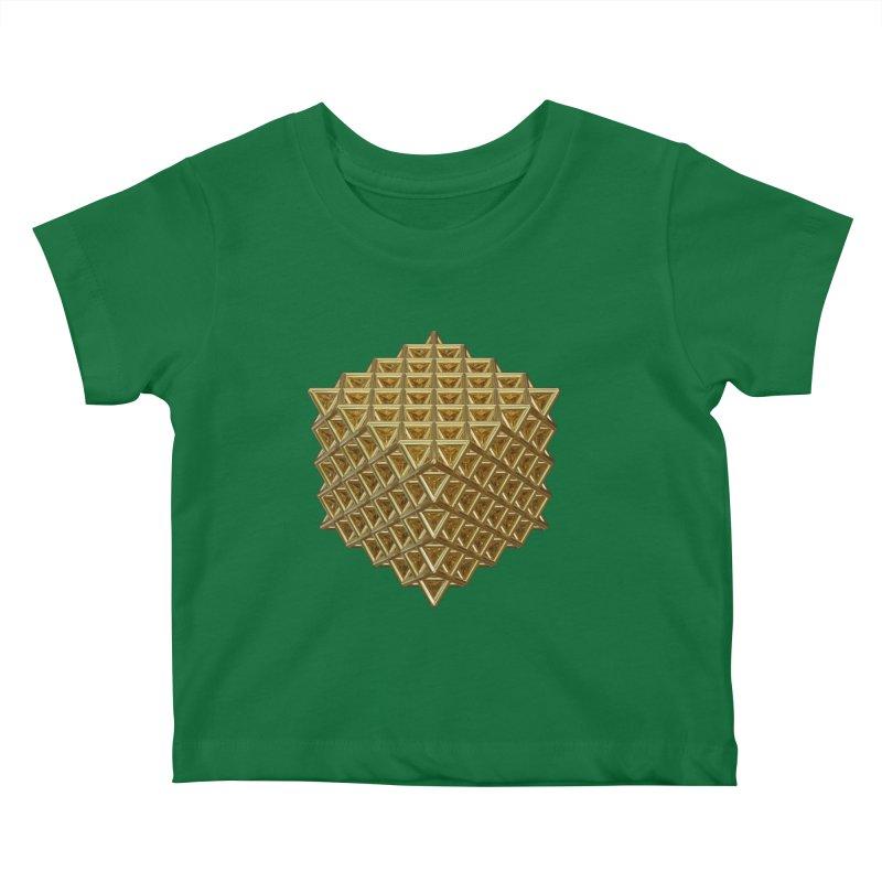 512 Tetrahedron Gold Kids Baby T-Shirt by diamondheart's Artist Shop