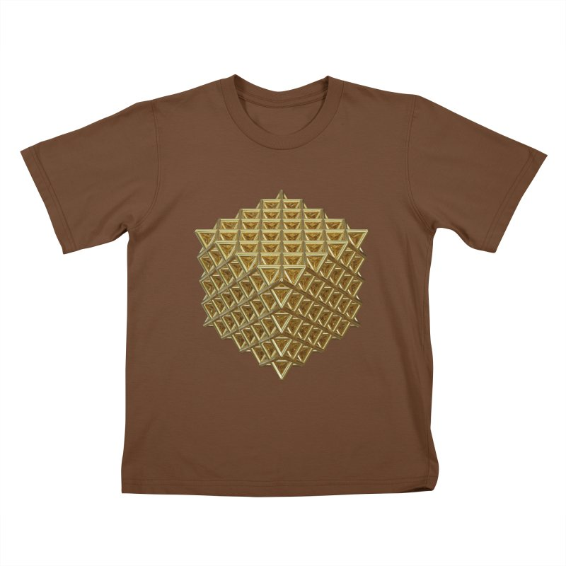 512 Tetrahedron Gold Kids T-Shirt by diamondheart's Artist Shop