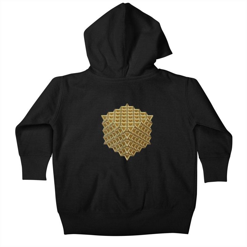 512 Tetrahedron Gold Kids Baby Zip-Up Hoody by diamondheart's Artist Shop