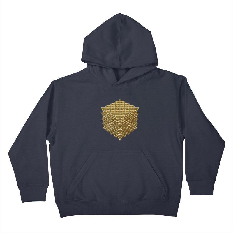 512 Tetrahedron Gold Kids Pullover Hoody by diamondheart's Artist Shop