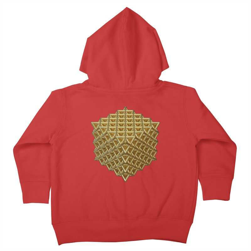 512 Tetrahedron Gold Kids Toddler Zip-Up Hoody by diamondheart's Artist Shop