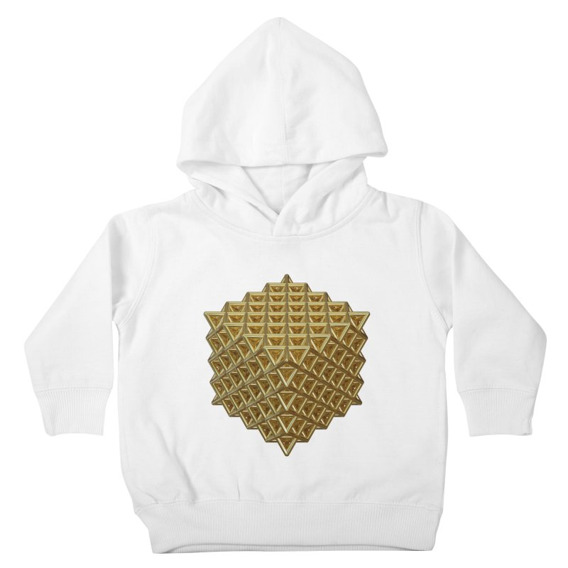 512 Tetrahedron Gold Kids Toddler Pullover Hoody by diamondheart's Artist Shop